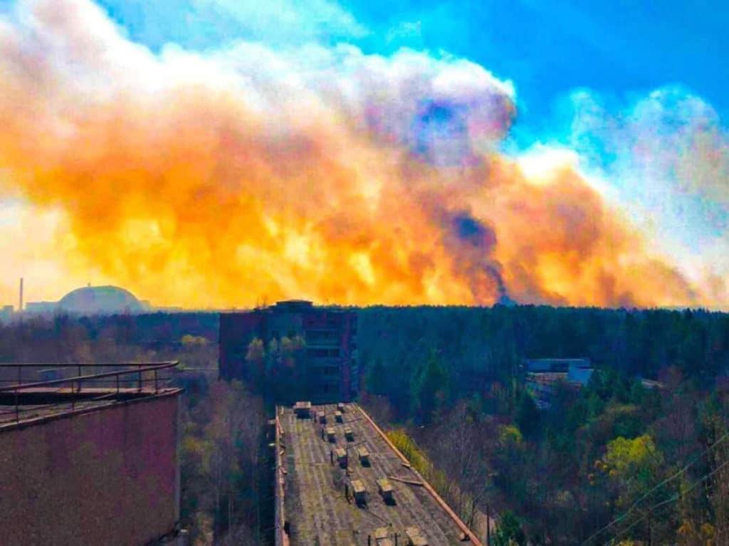 Горит Чернобыль: многострадальное Полесье снова в огне